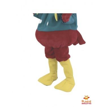 Pantalon mascotte géante perroquet