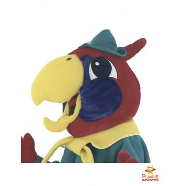 Tête mascotte géante perroquet