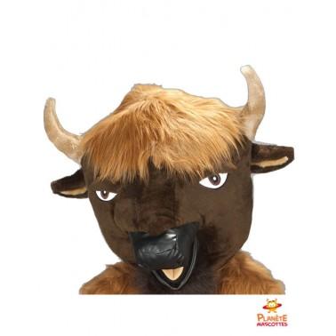 Tête mascotte taureau