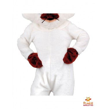 Costume mascotte de chat blanc