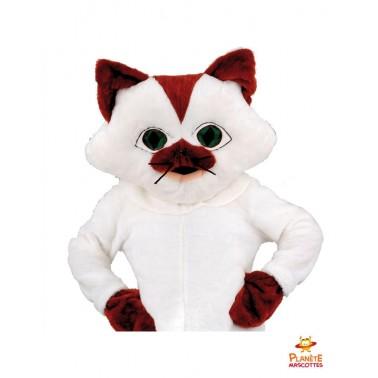 Costume mascotte chat blanc
