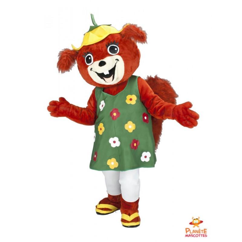 Disfraz de mascota ardilla vestida Planète Mascottes