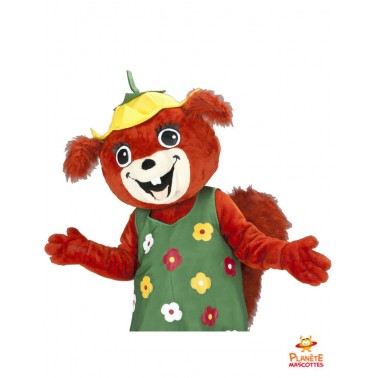 Mascotte écureuil habillé