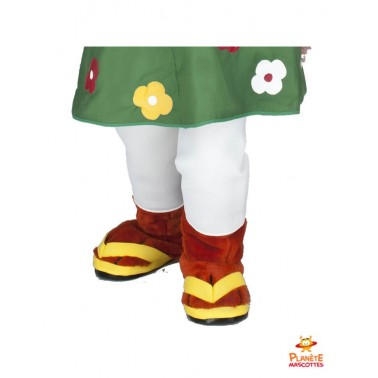 Disfraz de mascota ardilla vestida