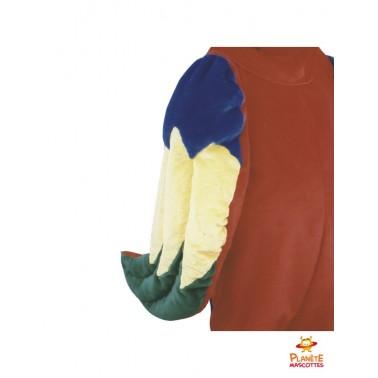 Détails mascotte de perroquet