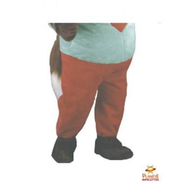 Pantalon mascotte écureuil cœur