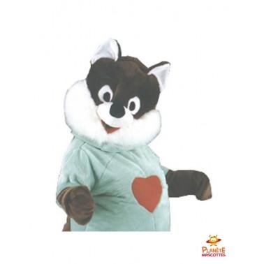 Costume mascotte écureuil cœur