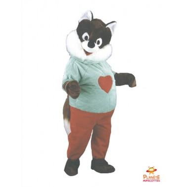 Mascotte écureuil cœur Planète Mascottes