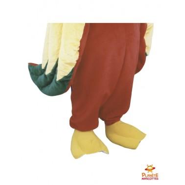 Pantalon mascotte de perroquet