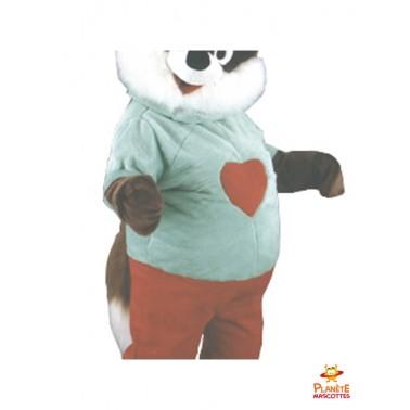Costume mascotte d'écureuil cœur