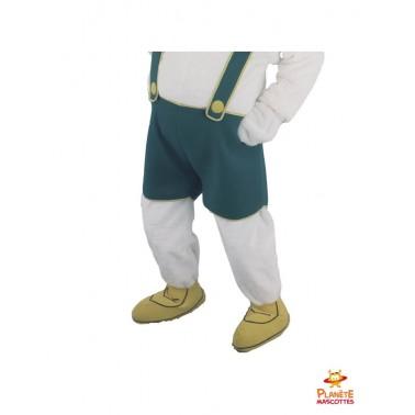 Pantalon mascotte de lapin bavarois