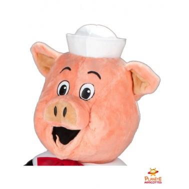 Tête mascotte de cochon