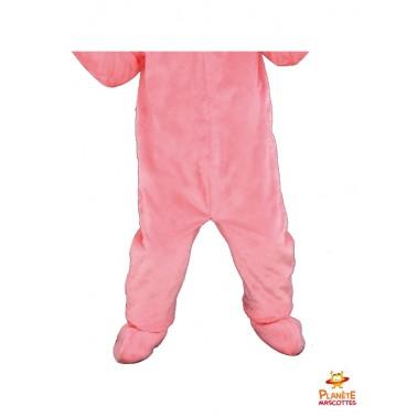 Pantalon costume mascotte lapin rose
