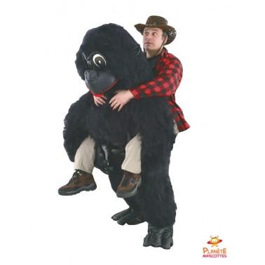 Costume mascot back gorilla