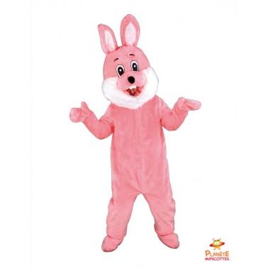 Costume mascotte de Lapin rose