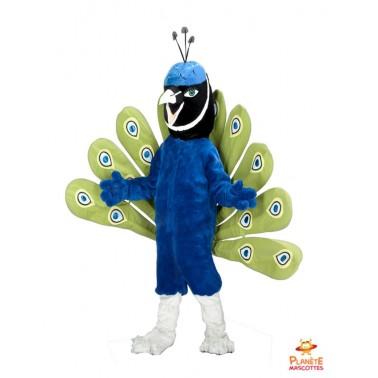 Costume mascotte de Paon