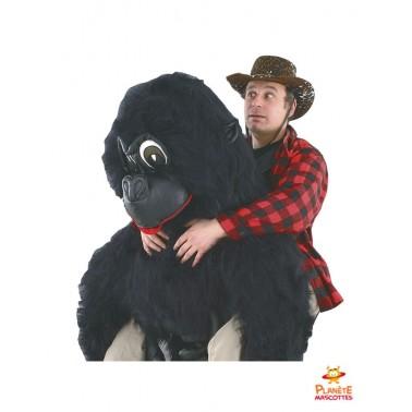 Costume mascotte à dos de gorille