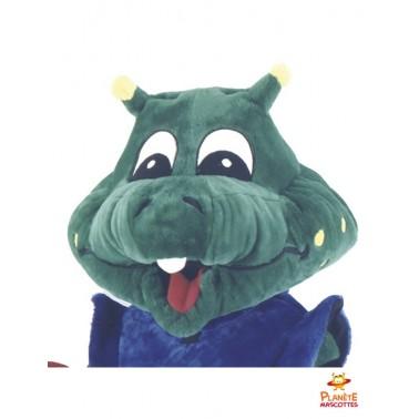 Tête costume mascotte crocodile