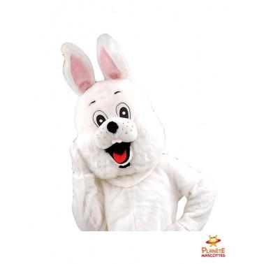 Costume mascotte lapin blanc