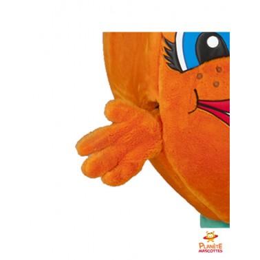 Détails mascotte d'orange