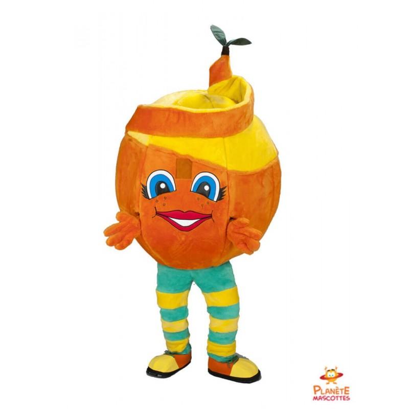 Mascotte orange Planète Mascottes