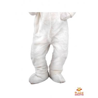 Pantalon costume lapin blanc