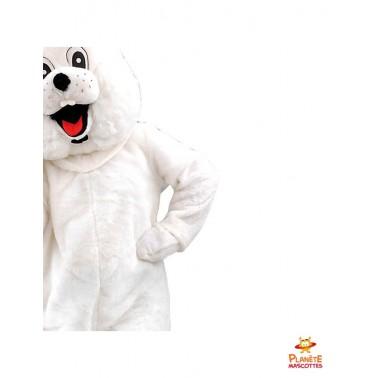 Détails costume mascotte lapin blanc
