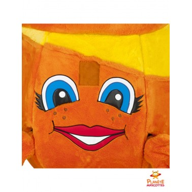 Visage mascotte d'orange
