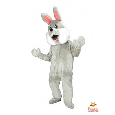 Costume mascotte de Lapin gris