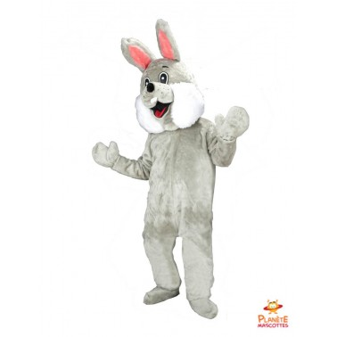 Grey Rabbit Mascot Costume