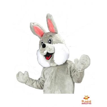 Costume mascotte lapin gris