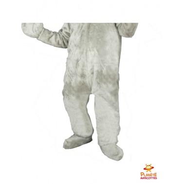 Pantalon costume lapin gris