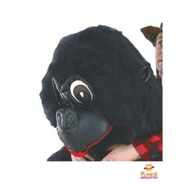 Tête mascotte à dos de gorille