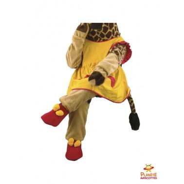 Pantalon costume mascotte girafe