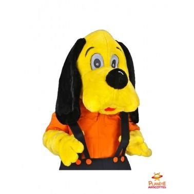 Mascotte de chien jaune