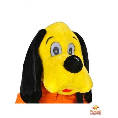 Visage mascotte chien jaune