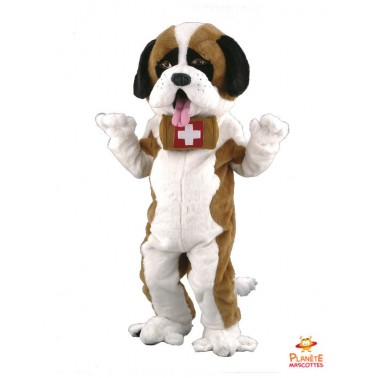 Saint Bernard Dog Mascot