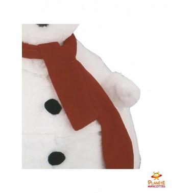 Détails costume mascotte bonhomme de neige