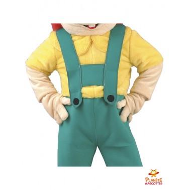 Costume mascotte de bricoleur