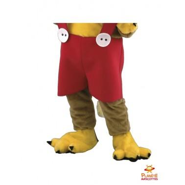 Pantalon mascotte de chat en salopette