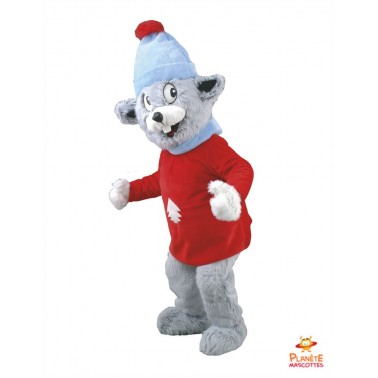 Skiing Mouse mascot costume