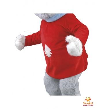 Costume mascotte souris au ski