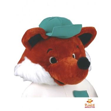 Visage mascotte renard habillé