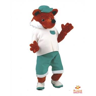 Disfraz mascota del zorro vestido Planète Mascottes