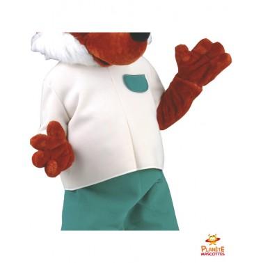 Corps mascotte renard habillé