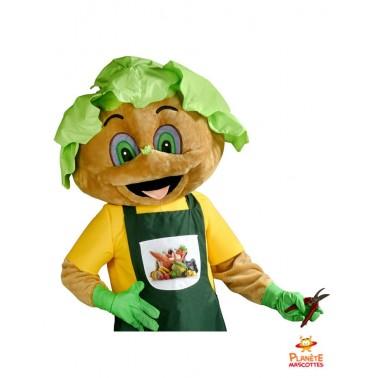 Costume mascotte jardinier salade