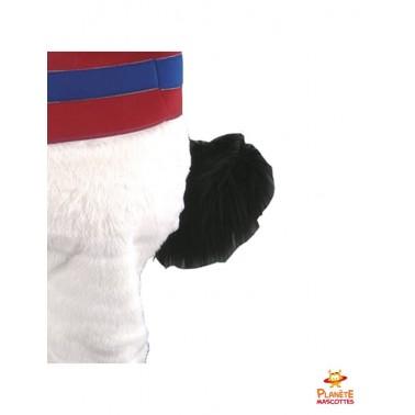 Détails mascotte de chien Planète Mascottes