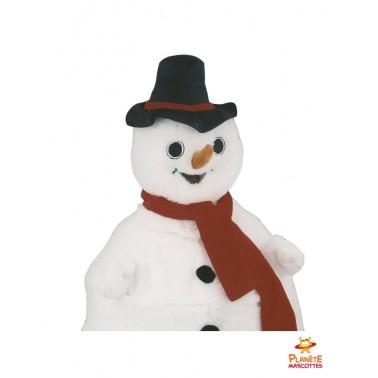 Costume mascotte bonhomme de neige
