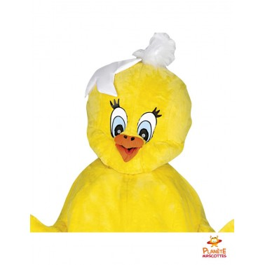 Costume mascotte poussin coquille