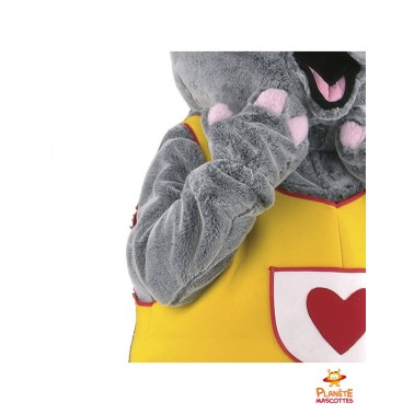Détails mascotte éléphant costumé